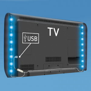 Paski LED TR-USB-L3 TV IP65 5050RGB 2*50cm + kontroler czarne