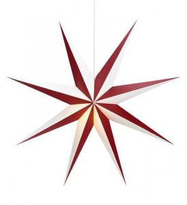 ALVA Pendant Star 75 E14 Red/White