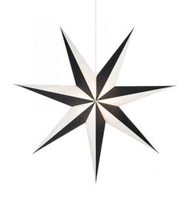 ALVA Pendant Star 1m Black/White