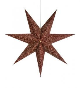 BAROQUE Pendant Star 45cm Bordeaux