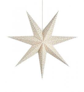 BAROQUE Pendant Star 75cm White
